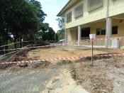 The safety zone erected around ground works